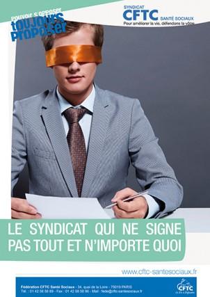 poster : le syndicat qui ne signe pas tout et n'importe quoi