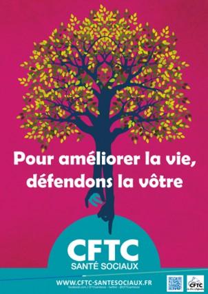Poster : «Pour améliorer la vie, défendons la vôtre»