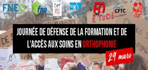 Orthophonistes unis pour défendre l'accès aux soins le 29 mars