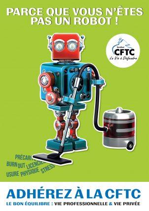 Poster : « Parce que vous n'êtes pas un robot ! »